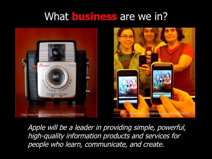 What  business  are we in? http://www.flickr.com/photos/tanaka/2345575389/ http://www.flickr.com/photos/jambina/3406245355...