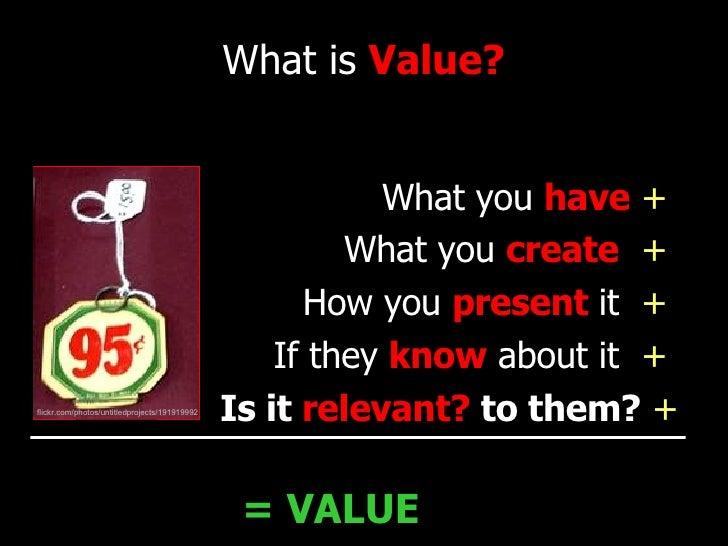 <ul><li>What you  have   +  </li></ul><ul><li>What you  create   +  </li></ul><ul><li>How you  present   it  +  </li></ul>...