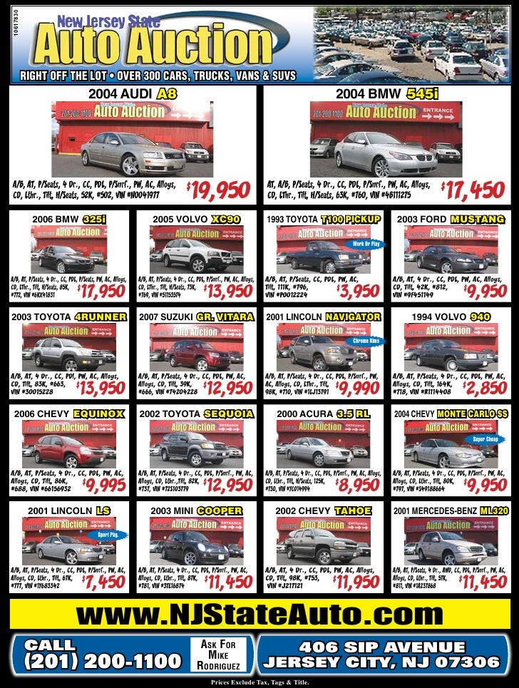 New Jersey State Auto Auction Used Cars