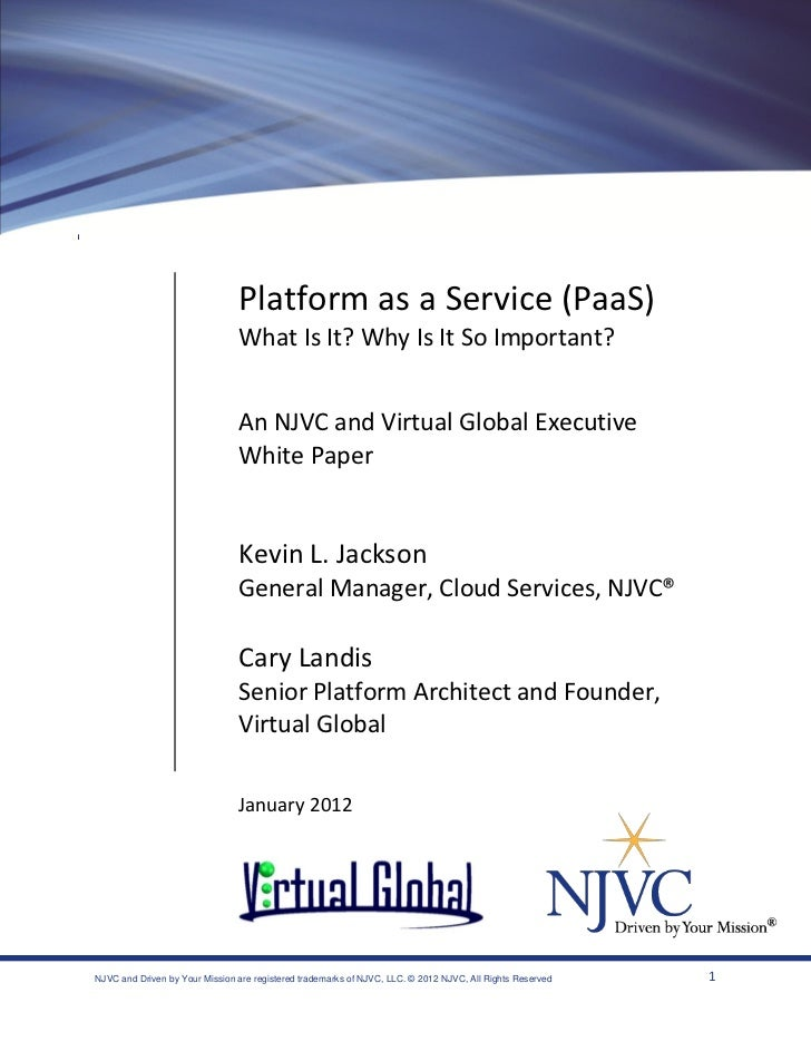 Platform as a Service (PaaS)                                What Is It? Why Is It So Important?                           ...
