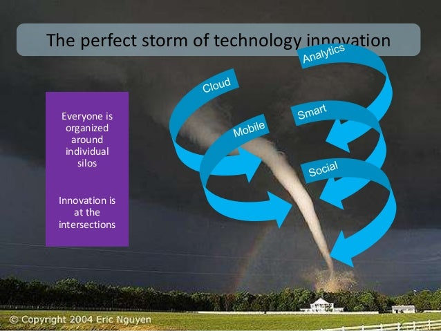 Perfect storm  The perfect storm of technology innovation  Everyone is  organized  around  individual  silos  Innovation i...