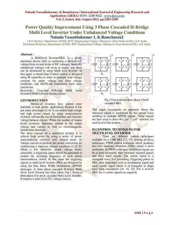 Nainala Vasanthakumar, K.Ramcharan / International Journal of Engineering Research and                    Applications (IJ...