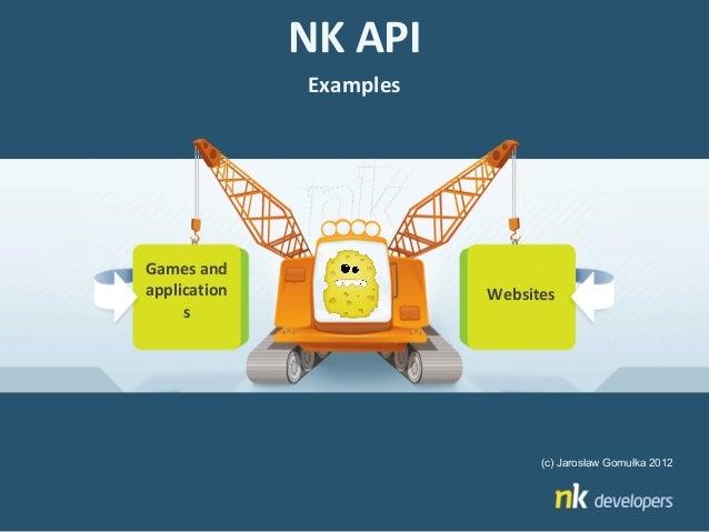 NK API              ExamplesGames andapplication              Websites     s                               (c) Jarosław Go...