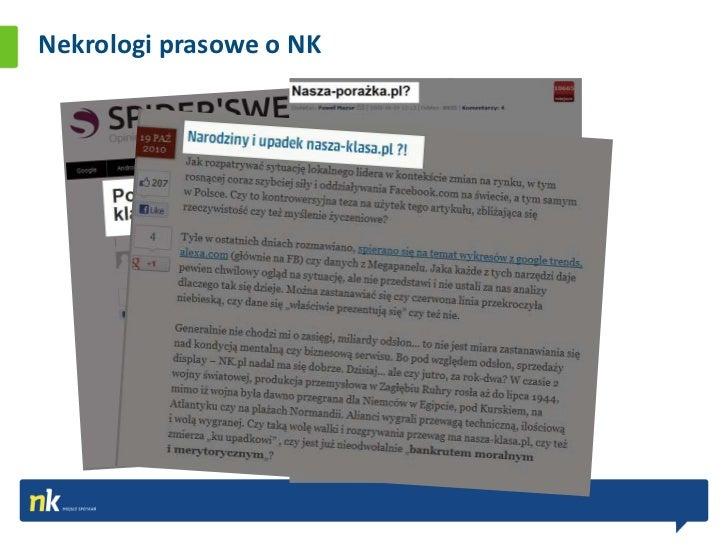 Nekrologi prasowe o NK