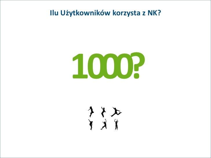 Ilu Użytkowników korzysta z NK?     1000?