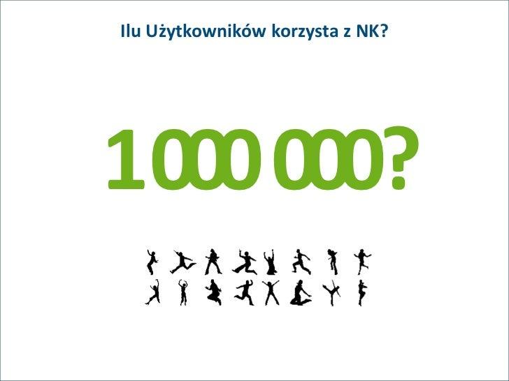Ilu Użytkowników korzysta z NK?1000 000?