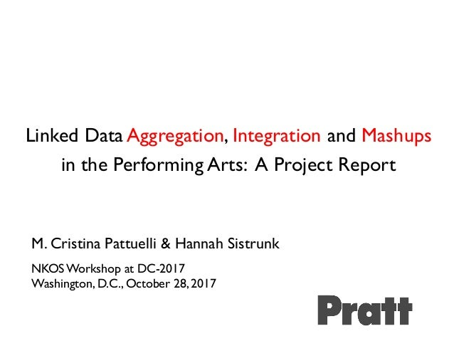 Linked Data Aggregation, Integration and Mashups in the Performing Arts: A Project Report M. Cristina Pattuelli & Hannah S...