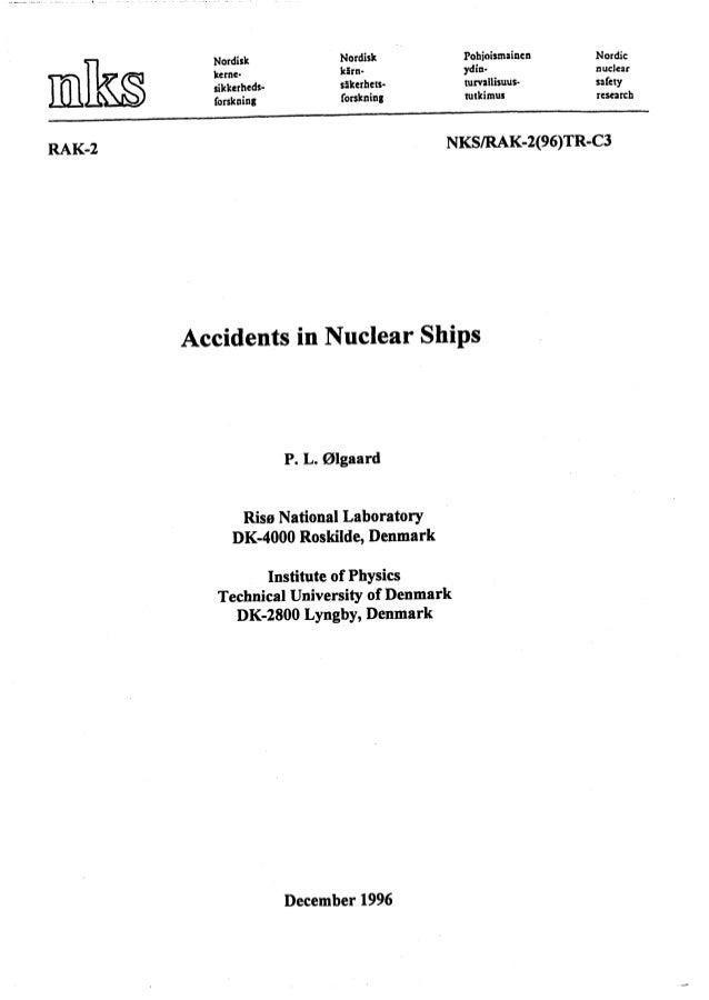 Nordisk kernesikkerhedsforskning  Nordisk kirn~5kerheI~forskning  Pohjoismoiaen  Nordic  ydin-  nucleir  rurvailisuusnitki...