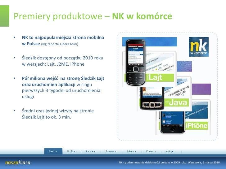 Pół miliona osób śledzących konta o tematyce sportowej</li></ul>NK - podsumowanie działalności portalu w 2009 roku. Warsza...