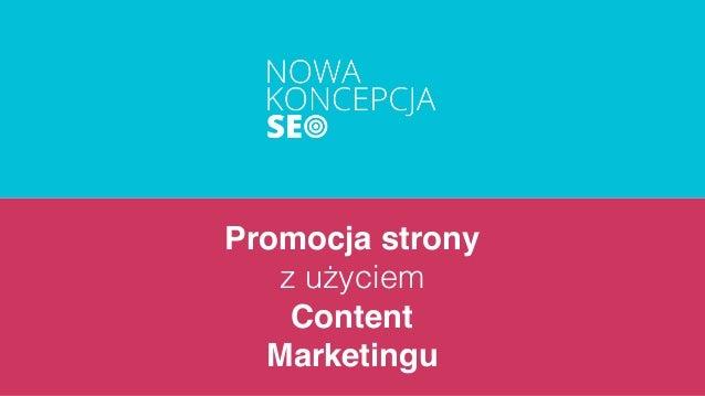 Promocja strony z użyciem Content Marketingu