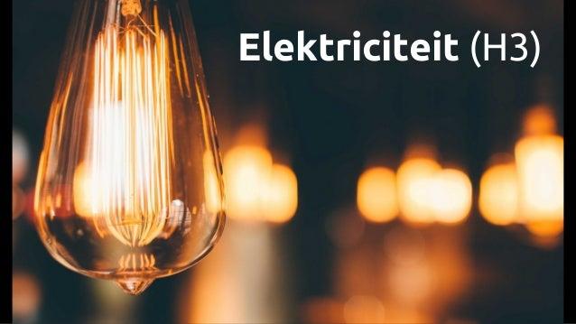 Elektriciteit (H3)