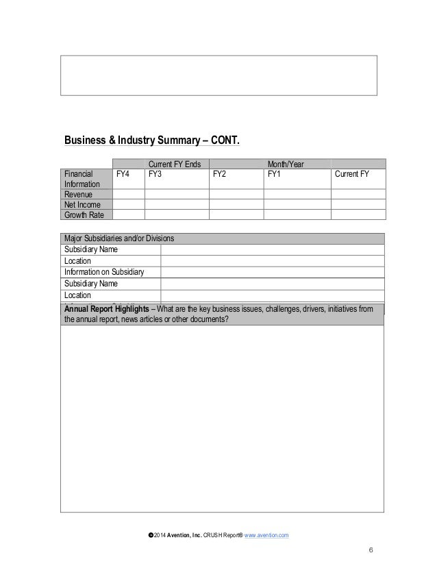 Account Plan Template An Image Of What Is In The Strategic Account