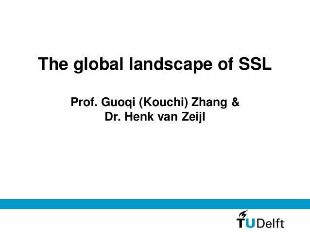 The global landscape of SSL Prof. Guoqi (Kouchi) Zhang & Dr. Henk van Zeijl
