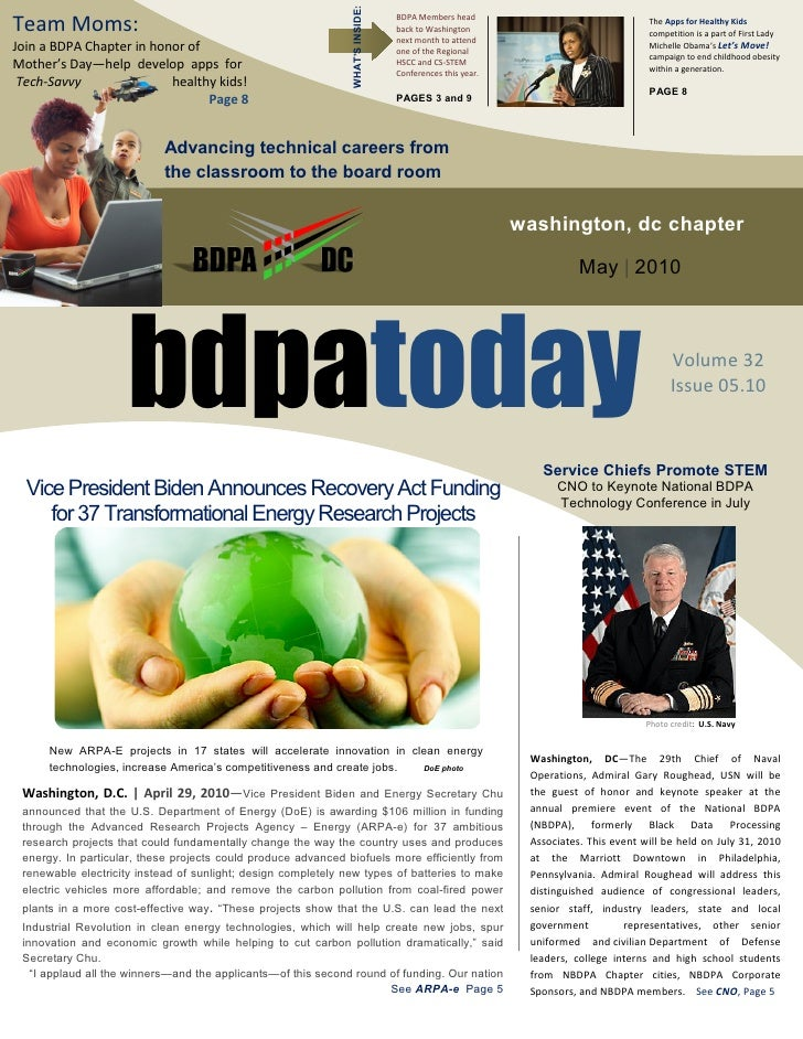 WHAT'S INSIDE: Team Moms:                                                                        BDPA Members head        ...
