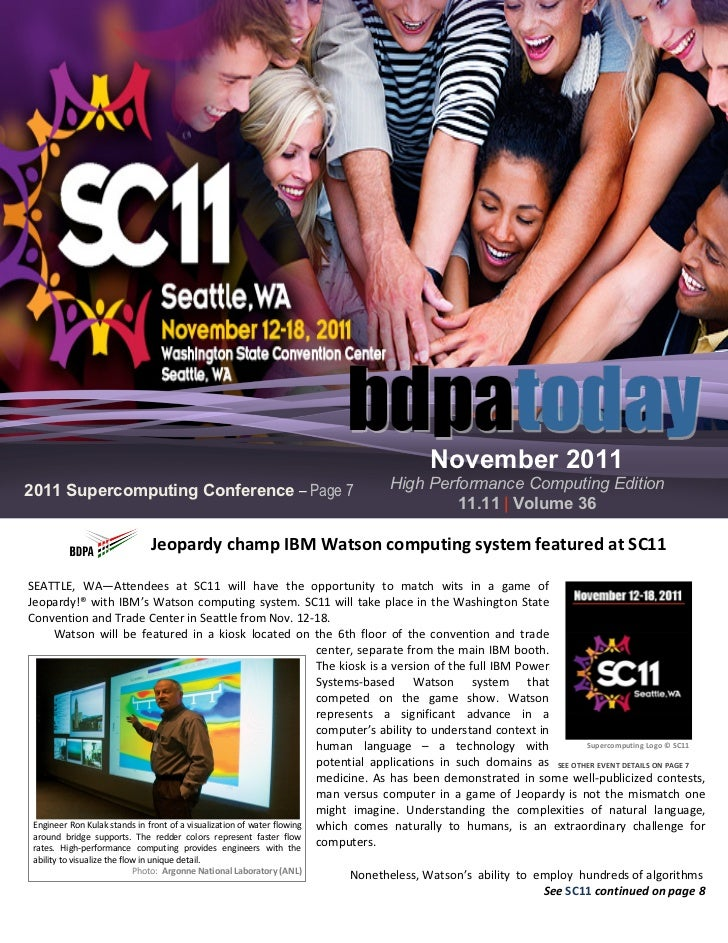 November 20112011 Supercomputing Conference – Page 7                                       High Performance Computing Edit...