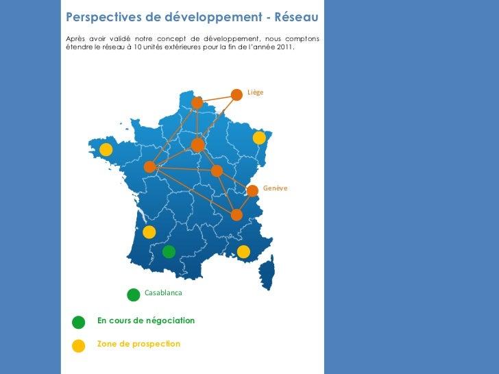 Perspectives de développement - RéseauAprès avoir validé notre concept de développement, nous comptonsétendre le réseau à ...