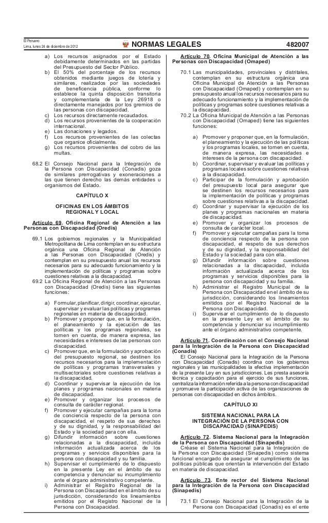El PeruanoLima, lunes 24 de diciembre de 2012                   NORMAS LEGALES                                            ...