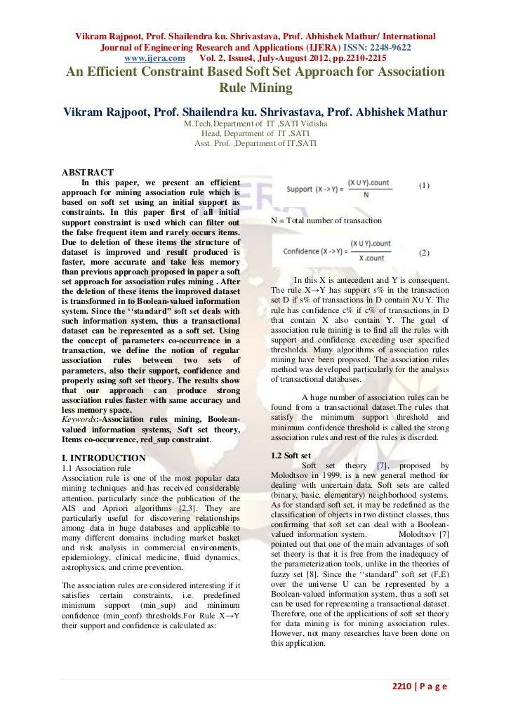 Vikram Rajpoot, Prof. Shailendra ku. Shrivastava, Prof. Abhishek Mathur/ International         Journal of Engineering Rese...