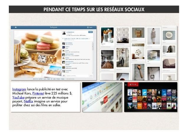 PENDANT CE TEMPS SUR LES RESÉAUX SOCIAUX  Instagram lance la publicité en test avec Michael Kors, Pinterest lève 225 milli...