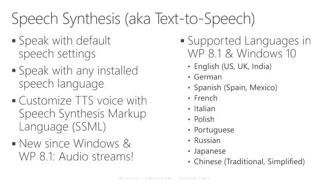 Building Windows 10 Universal Apps with Speech and Cortana