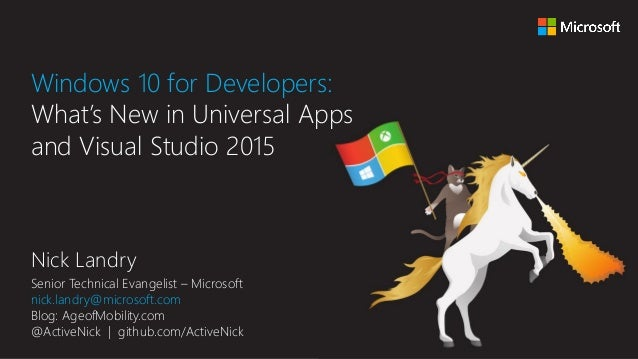 Windows 10 for Developers: What's New in Universal Apps