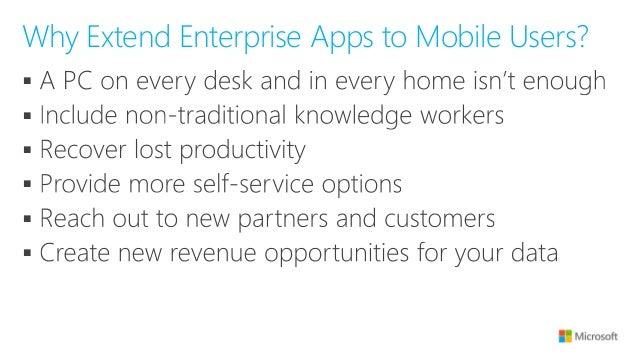 Mobilizing your Existing Enterprise Applications