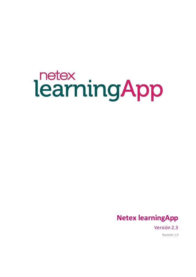 Netex learningApp Versión 2.3 Revisión 1.0