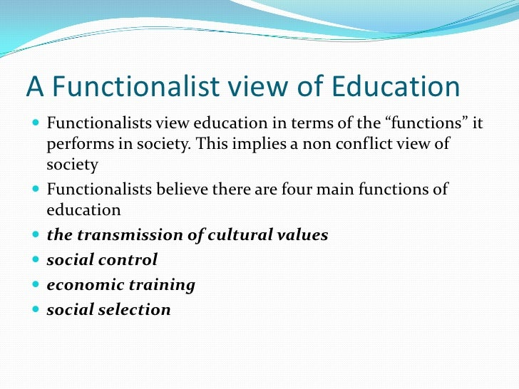 functionalism conflict and interactionism in education How does the functionalist perspective in sociology apply today doing research recently into talcott parsons's branch of functionalism  for conflict and.