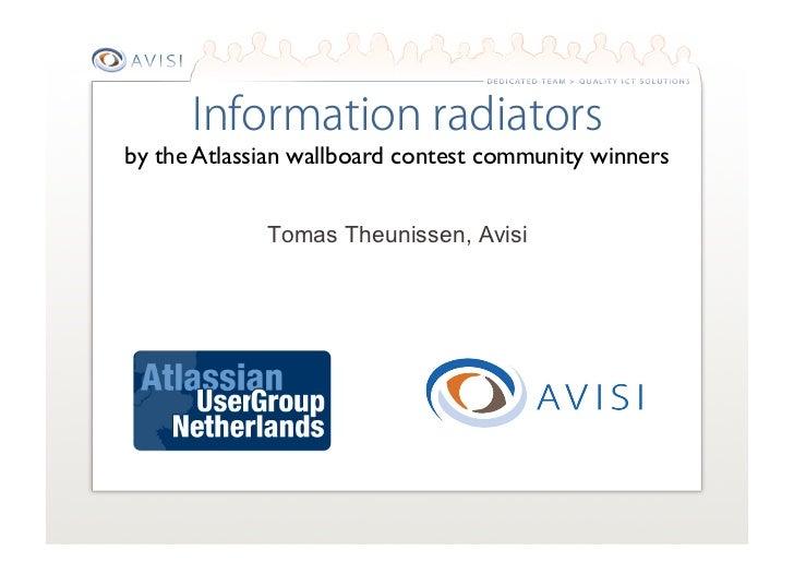 by the Atlassian wallboard contest community winners              Tomas Theunissen, Avisi