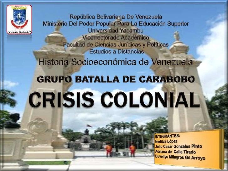 República Bolivariana De Venezuela<br />Ministerio Del Poder Popular Para La Educación Superior<br />Universidad Yacambu<b...
