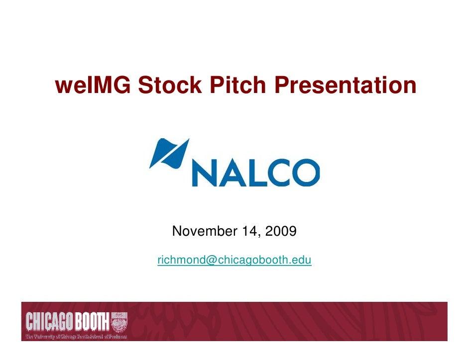 weIMG Stock Pitch Presentation               November 14, 2009         richmond@chicagobooth.edu