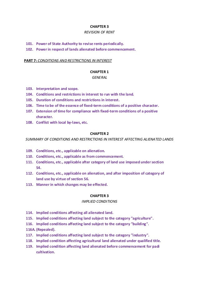 National Land Code 1956