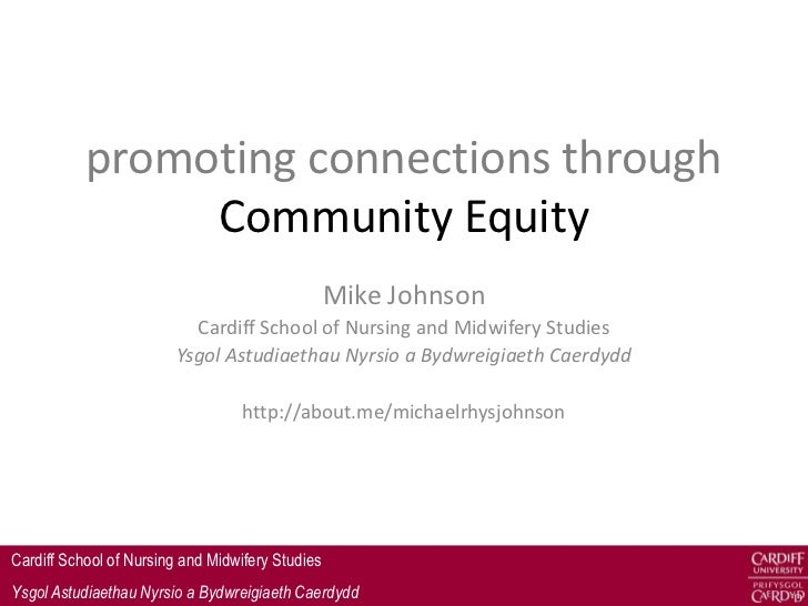 promoting connections through                Community Equity                                                  Mike Johnso...