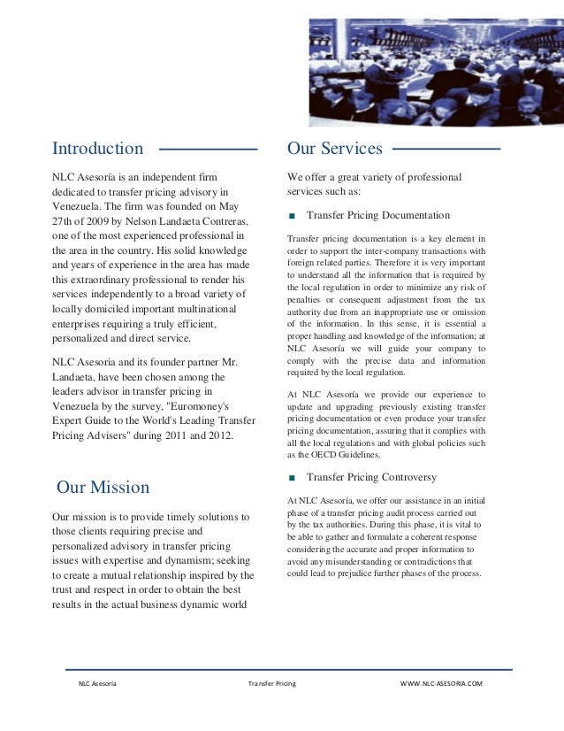 NLC Asesoria - Transfer Pricing Slide 2