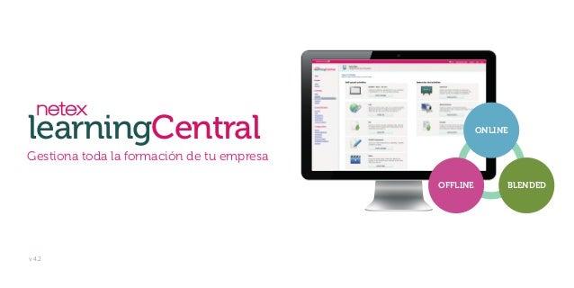 learningCentral Gestiona toda la formación de tu empresa ONLINE BLENDEDOFFLINE v 4.2