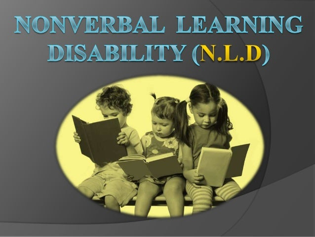 Talk:Nonverbal learning disorder