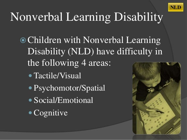 What Is Non Verbal Learning Disorder >> Nonverbal Learning Disability