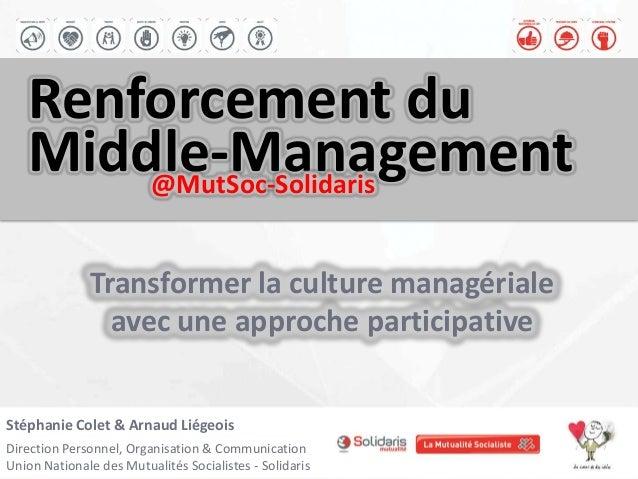 Stéphanie Colet & Arnaud LiégeoisDirection Personnel, Organisation & CommunicationUnion Nationale des Mutualités Socialist...