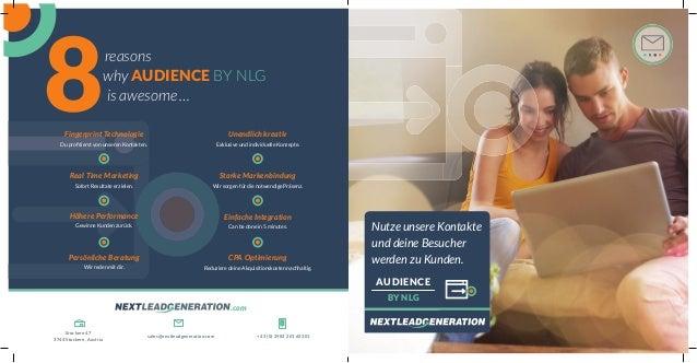 Nutze unsere Kontakte und deine Besucher werden zu Kunden. AUDIENCE BY NLG why AUDIENCE BY NLG is awesome … 8reasons Finge...