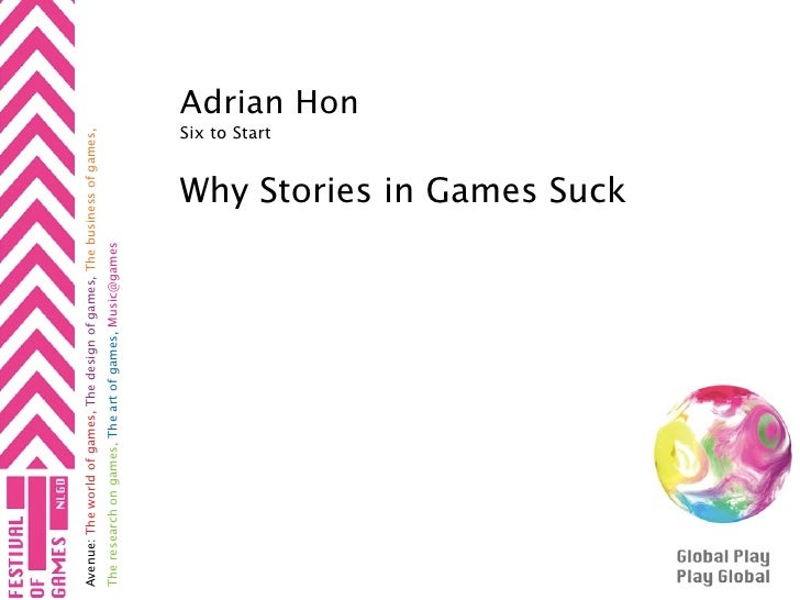 Avenue: The world of games, The design of games, The business of games, The research on games, The art of games, Music@gam...