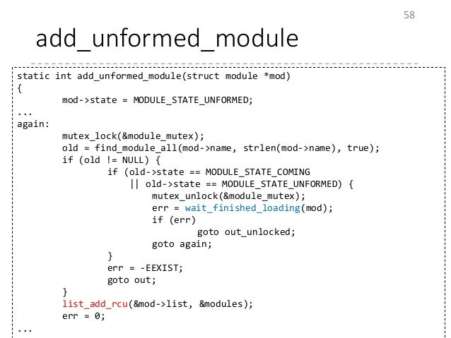 linux kernel module write a resume