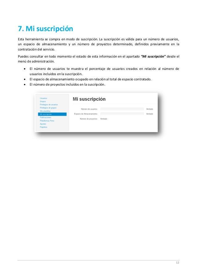 12 7. Mi suscripción Esta herramienta se compra en modo de suscripción. La suscripción es válida para un número de usuario...