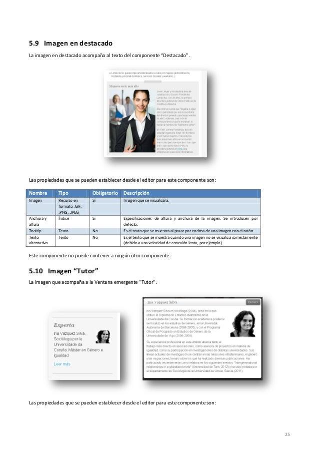"""25 5.9 Imagen en destacado La imagen en destacado acompaña al texto del componente """"Destacado"""". Las propiedades que se pue..."""