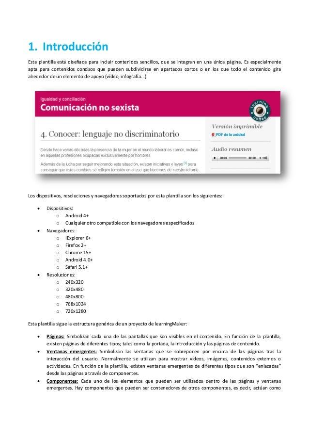 1. Introducción Esta plantilla está diseñada para incluir contenidos sencillos, que se integran en una única página. Es es...
