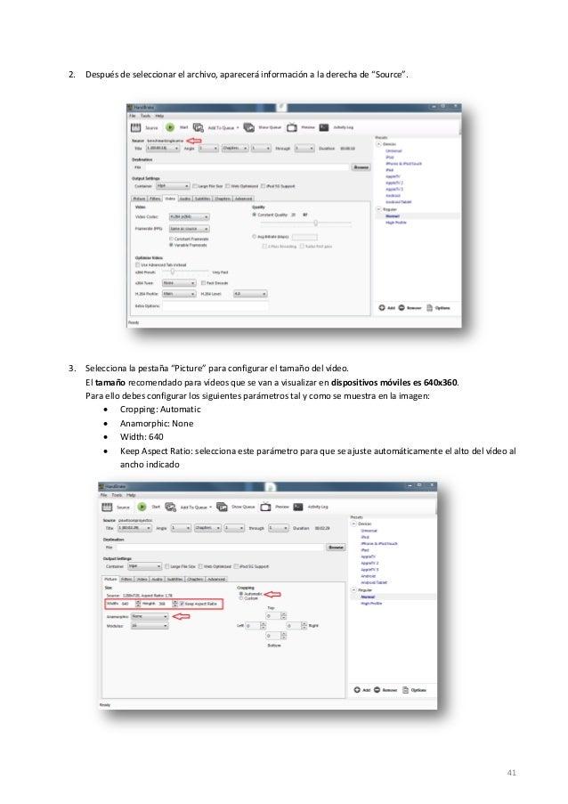 """41 2. Después de seleccionar el archivo, aparecerá información a la derecha de """"Source"""". 3. Selecciona la pestaña """"Picture..."""