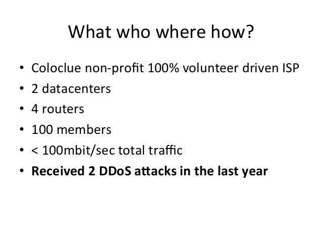UltrafastDDoS DetectionwithFastNetMon at Coloclue(AS8283) Slide 2