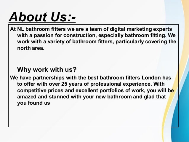 Bathroom Refitters north london bathroom fitters