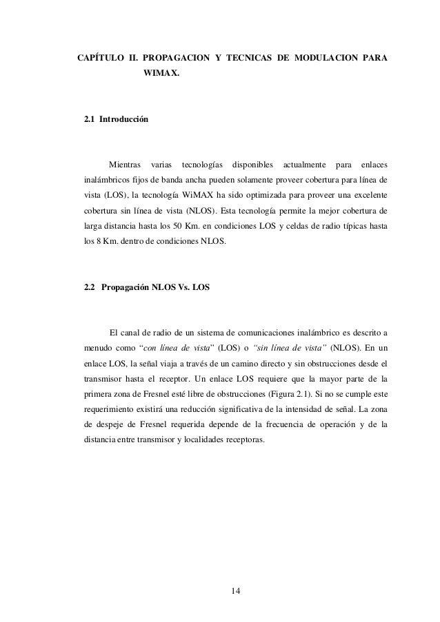 CAPÍTULO II. PROPAGACION Y TECNICAS DE MODULACION PARA                   WIMAX. 2.1 Introducción        Mientras    varias...