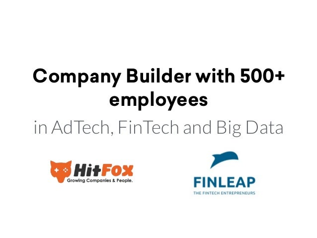 Company Builder with 500+ employees in AdTech, FinTech and Big Data