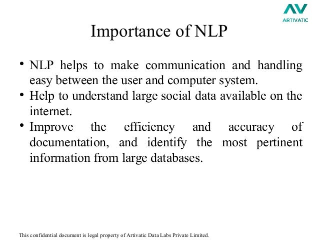 A report on artificial intelligence natural language processing